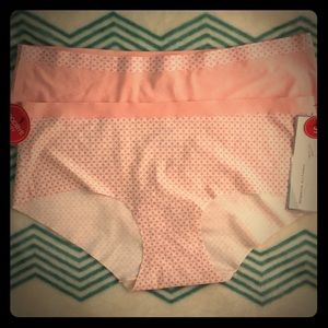 2 pair small no panty line MM PANTIES Peach